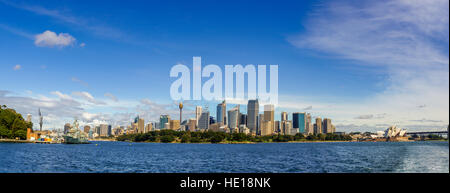 Opera House and Sydney skyline, Sydney, New South Wales, Australia, Pacific - Stock Photo