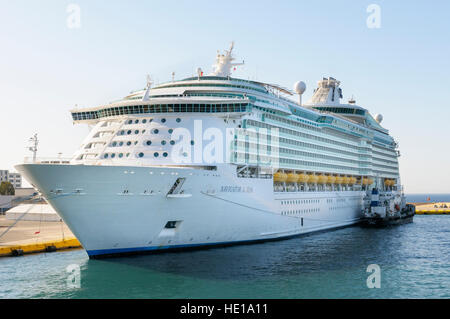 MS cruise ship Navigator of the Seas, moored in the port of Piraeus, Athens, Greece - Stock Photo
