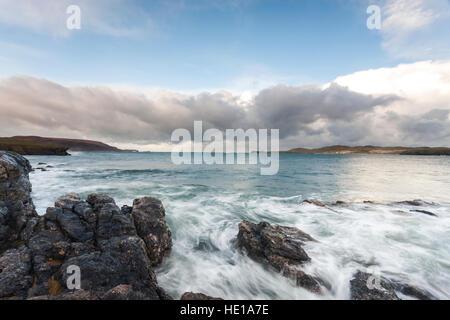 A view from Balnakiel Beach, Sutherland, Scotland. - Stock Photo