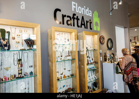 St. Saint Petersburg Florida Central Avenue Florida CraftArt shopping art - Stock Photo