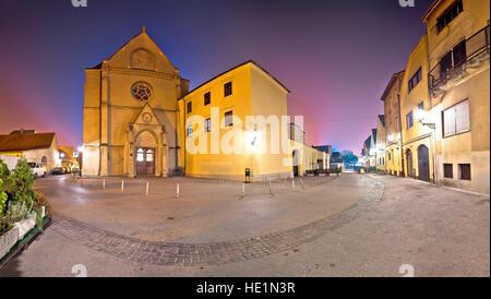 Opatovina square in Zagreb evening view, capital of Croatia - Stock Photo