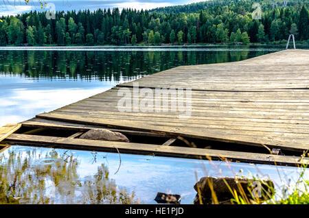 Sognsvann Lake in summer - Stock Photo