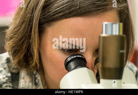 Capt. Elizabeth Foley, chief of Entomology at the Air Force Research Lab, Wright-Patterson Air Force Base, Ohio, - Stock Photo