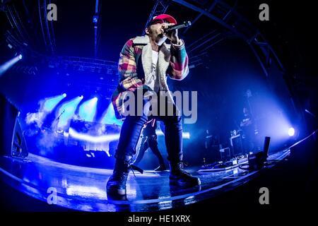 Milano, Italy. 15th Dec, 2016. Italian rapper Salmo performs live at Fabrique. © Mairo Cinquetti/Pacific Press/Alamy - Stock Photo