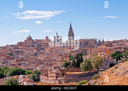 A view of the walled city of Toledo Spain - Stock Photo
