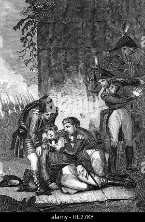 The Battle of Corunna took place during the Peninsular War, part of the wider Napoleonic Wars. It took place on - Stock Photo