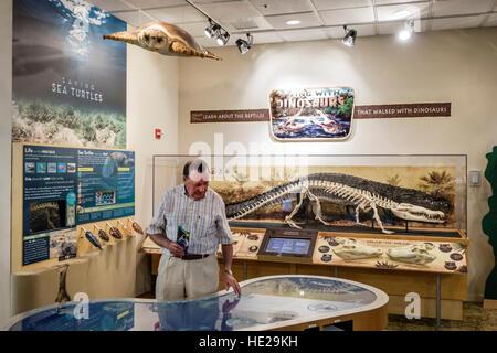 Sanibel Island Florida J. N. J.N. JN Ding Darling National Wildlife Refuge Visitor Education Center centre exhibits - Stock Photo