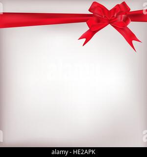 red bow card - Stock Photo