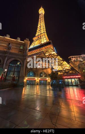 Paris Las Vegas hotel and Casino and Eiffel tower - Stock Photo
