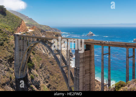 Bixby Bridge on California Pacific coast, USA. - Stock Photo