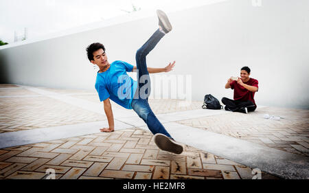 Breakdance Freestyle Hip-Hop Streetdance Teenager Concept - Stock Photo