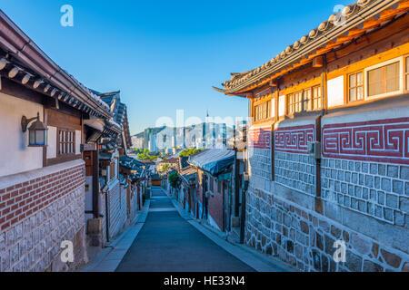 Bukchon Hanok Village in Seoul, South Korea. - Stock Photo