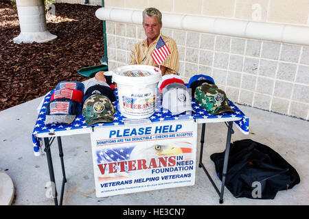 Everglades Florida Alligator Alley Collier County visitors center Veterans in Need Foundation seeking donations - Stock Photo