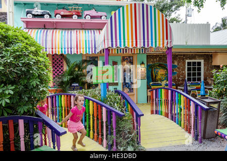 Florida Captiva Island The Bubble Room restaurant exterior - Stock Photo