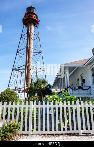 Sanibel Island Florida Lighthouse Sanibel Island Light Point Ybel Light - Stock Photo