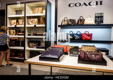 coach sale outlet ae5m  Fort Myers Florida Ft Sanibel Outlets shopping display sale Coach  women's handbags
