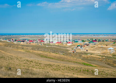 View over suburbs neighborhood in Baku, Azerbaijan - Stock Photo