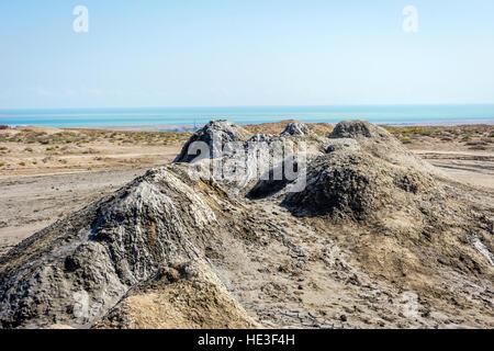 Mud volcano in Gobustan, Azerbaijan - Stock Photo