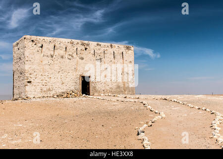 The ancient city of Ubar, Shisr, in Dhofar region, Oman - Stock Photo