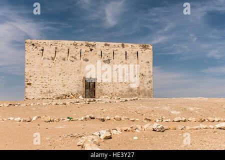 The ancient city of Ubar, Shisr, in Dhofar region, Oman 3 - Stock Photo