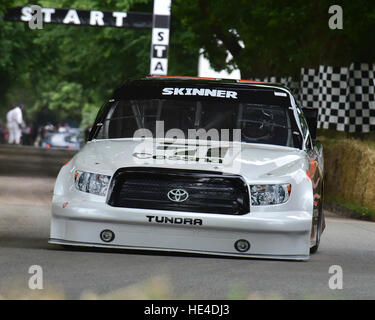 Mike Skinner, Toyota Tundra, NASCAR, Goodwood Festival of Speed, 2016. automobiles, cars, entertainment, Festival - Stock Photo
