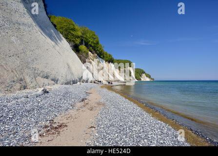 Chalk coast, Jasmund National Park, Baltic Sea, Sassnitz, Rügen, Mecklenburg-Western Pomerania, Germany - Stock Photo
