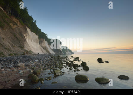 Chalk coast, Jasmund National Park, Baltic Sea, Sassnitz, Rügen, Mecklenburg-Western Pomerania, Germany - Stock Photo