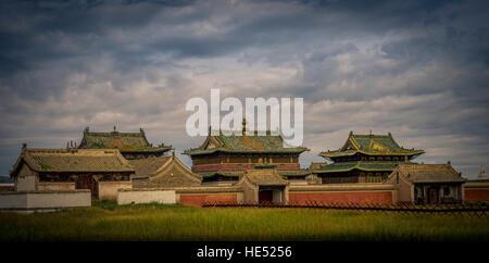 Erdene Zuu monastery, Karakorum, Kharkhorin, Övörkhangai Province, Mongolia - Stock Photo
