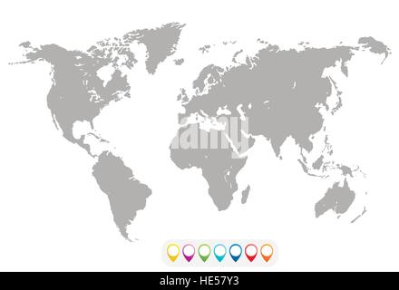 Blank grey similar world map isolated on white background best blank grey similar world map isolated on white background best popular world map vector template gumiabroncs Gallery