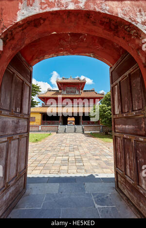 Hien Lam Pavilion (Pavilion of the Glorious Coming). Imperial City (The Citadel), Hue, Vietnam. - Stock Photo