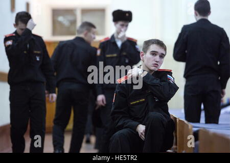 Omsk, Russia. 16th Dec, 2016. Cadets of the Omsk Cadet Corps. © Dmitry Feoktistov/TASS/Alamy Live News - Stock Photo