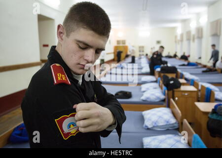 Omsk, Russia. 16th Dec, 2016. A cadet of the Omsk Cadet Corps. © Dmitry Feoktistov/TASS/Alamy Live News - Stock Photo