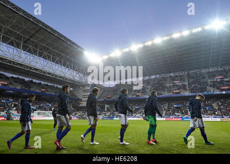 Oviedo, Asturias, Spain. 17th December, 2016. Real Oviedo players before the Liga 123 match between Real Oviedo - Stock Photo
