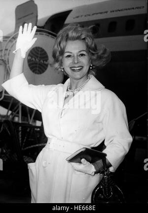 ZSA ZSA GABOR (born Sari Gabor, February 6, 1917 - December 18, 2016) was a Hungarian-American actress and socialite. - Stock Photo
