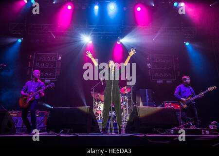 Echobelly live at the Shiiine On Weekender 2016  Featuring: Echobelly, Sonya Madan Where: Minehead, United Kingdom - Stock Photo