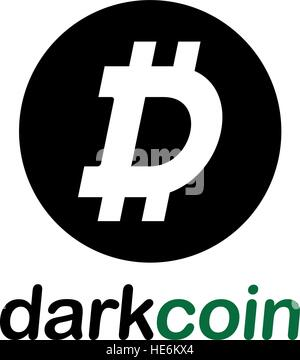 Dark Coin Concept Design, EPS 8 supported. - Stock Photo