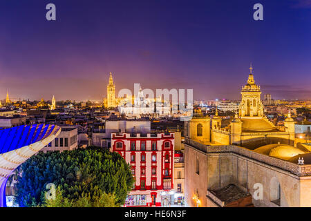 Seville, Spain skyline in the Old Quarter. - Stock Photo