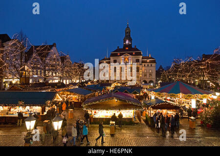 Christmas Market, town hall, Lueneburg, Lower Saxony, Germany - Stock Photo