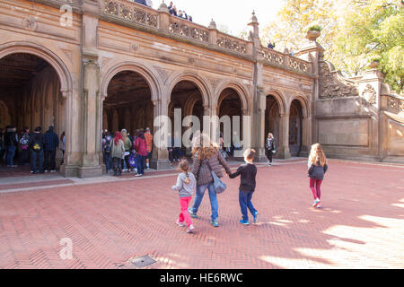 The pedestrian underpass at Bethesda Terrace, Central Park, New York City, United States of America. - Stock Photo