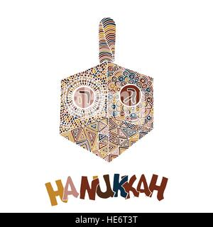 Cute Hanukkah greeting card, invitation - Stock Photo