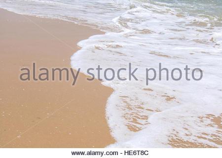 Sandy Beach at sea beautiful beaches serenity idyllic scene abstract beach concept beach holiday abstract nature - Stock Photo