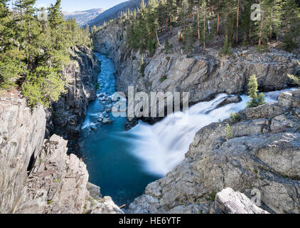 Waterfall in Goddard Canyon, Kings Canyon National Park, California, United States of America, North America - Stock Photo