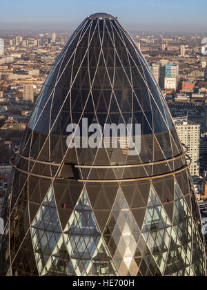 London - the Gherkin from a different angle - Stock Photo