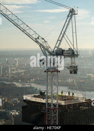 Major construction on high rise buildings in London - Stock Photo