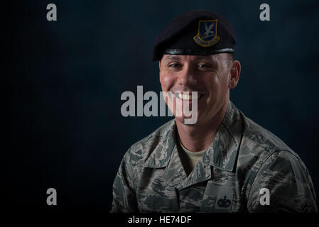 Tech. Sgt. Nathan Combs, 902nd Security Forces Squadron NCO in charge of resource protection, was diagnosed with - Stock Photo