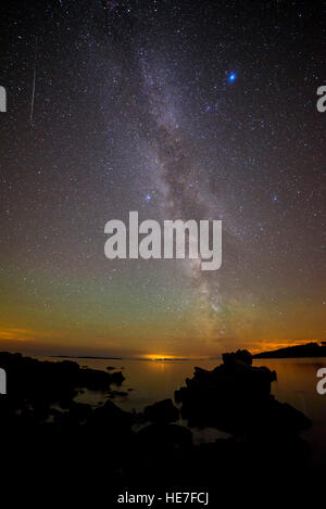 Milky Way and Stary night from Carrick, near Gatehouse of Fleet, Solway Firth, Dumfries & Galloway, Scotland - Stock Photo
