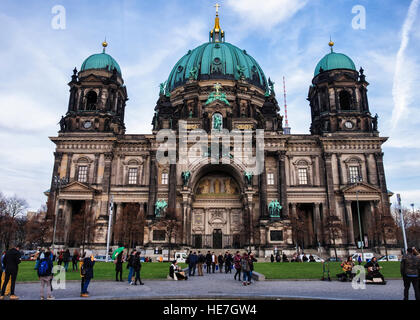 Berlin Cathedral, Berliner Dom. High Renaissance Baroque classical style historic church building exterior - Stock Photo