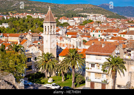 Historic town of Trgogir rooftops view, UNESCO site in Dalmatia, Croatia - Stock Photo
