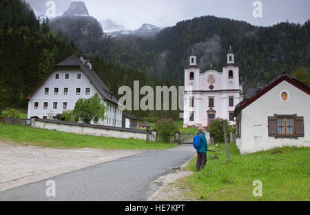 Maria Kirchental (place of pilgrimage for meditation) St Martin bei Lofer, Lofer near Salzburg, Austria. - Stock Photo