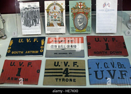 Ulster Day - 28th Sep 1912 - City Hall Guard - Home Rule Crisis UVF armbands - Stock Photo